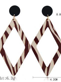 Geometric Leopard Earrings 1