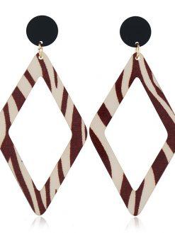 Geometric Leopard Earrings
