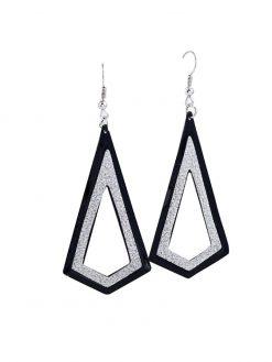 Simple Retro Metal Geometric Drop Frosted Earrings