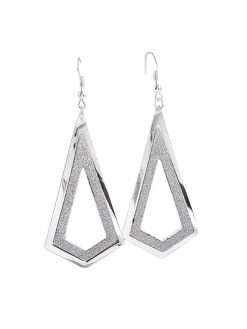 Simple Retro Metal Geometric Drop Frosted Earrings 1