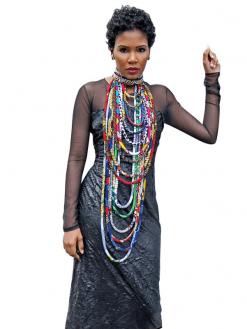 African Print Ankara Necklace 1