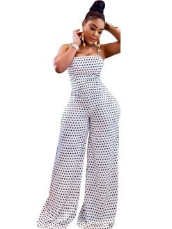Sexy Dots Printed One-piece Jumpsuit 2