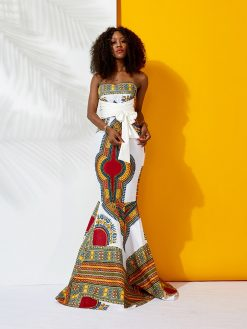 African Dashiki Mermaid Dress 1