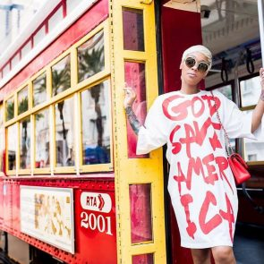 God Save America Casual White Summer Dress 3