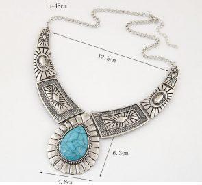 Vintage Gem Geometric Thread Statement Necklaces & Pendants 3