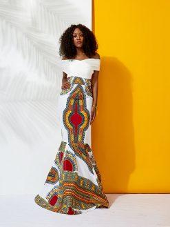 African Dashiki Mermaid Dress