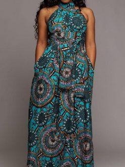 Off Shoulder Sleeveless Floral Print Dress 3