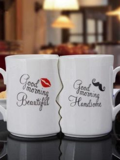 Cup Ceramic Coffee Kiss Mug