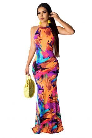 Sexy Women's Long Dress Elegant Maxi Dresses 5