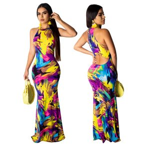 Sexy Women's Long Dress Elegant Maxi Dresses 1