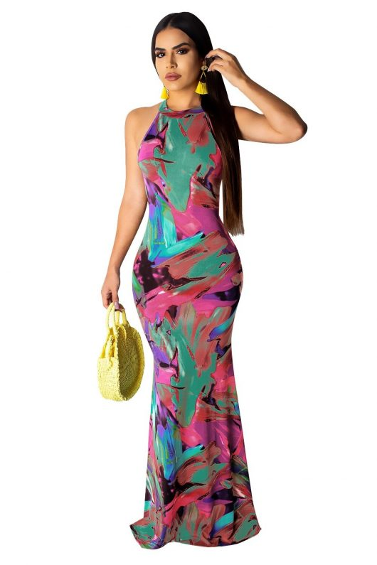 Sexy Women's Long Dress Elegant Maxi Dresses 3
