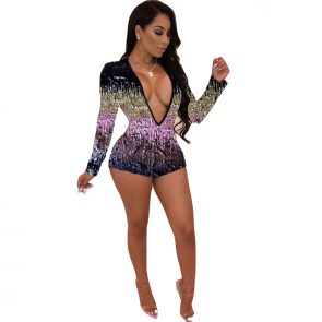 Sexy Sheath Long Sleeve Night Club Party Jumpsuit Casual Overalls Rompers 1