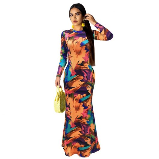 Sexy Women's Long Dress Elegant Maxi Dresses 4