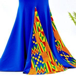 Blue Mermaid Ankara Dress 2