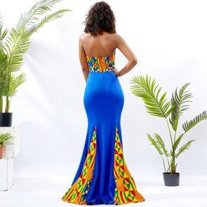 Blue Mermaid Ankara Dress 3