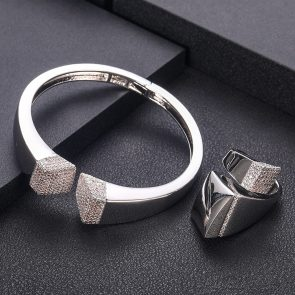 Elegant Unique African Bangle Ring Set  5
