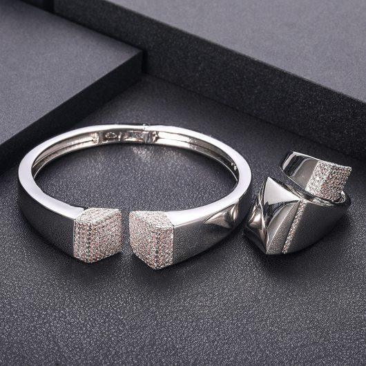 Elegant Unique African Bangle Ring Set  6
