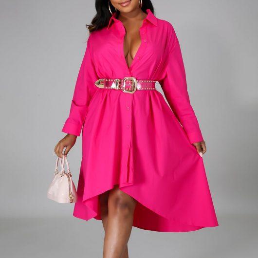 Women Long Shirts Dress  African Dress Vestiods Shirts 2020 Summer Loose Female Midi Dresses Robe Casual Ruffles Daily 1