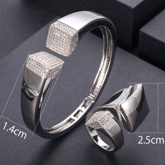 Elegant Unique African Bangle Ring Set  2