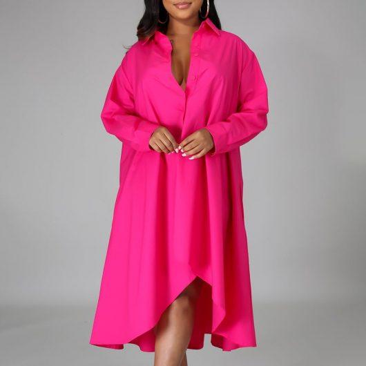 Women Long Shirts Dress  African Dress Vestiods Shirts 2020 Summer Loose Female Midi Dresses Robe Casual Ruffles Daily 4