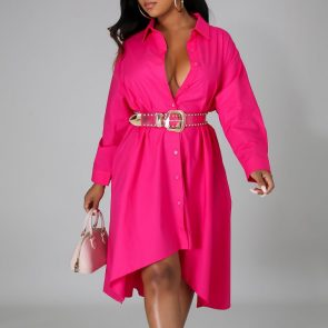 Women Long Shirts Dress  African Dress Vestiods Shirts 2020 Summer Loose Female Midi Dresses Robe Casual Ruffles Daily 2