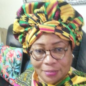 African Print Satin  Headwrap photo review