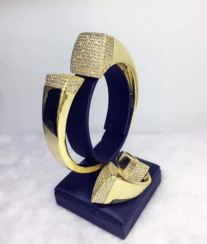 Elegant Unique African Bangle Ring Set  4