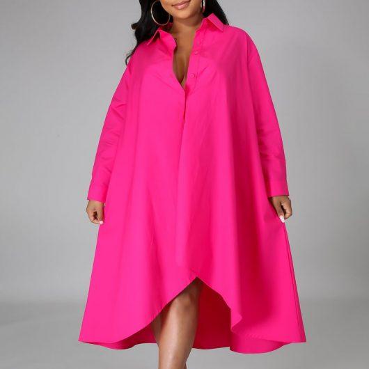 Women Long Shirts Dress  African Dress Vestiods Shirts 2020 Summer Loose Female Midi Dresses Robe Casual Ruffles Daily 3
