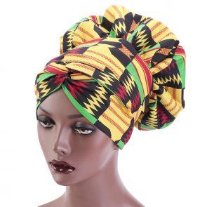 African Print Satin  Headwrap 5