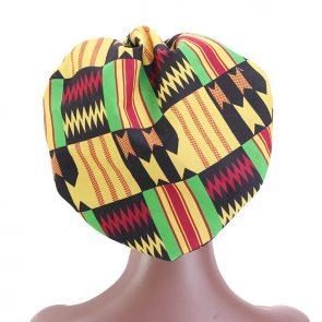 African Print Satin  Headwrap 4
