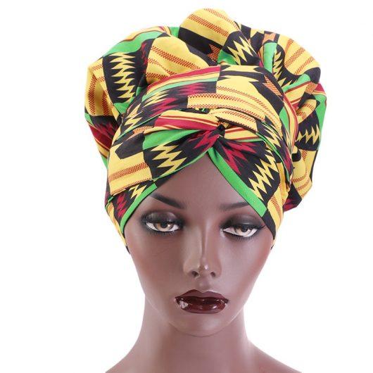 African Print Satin  Headwrap 2