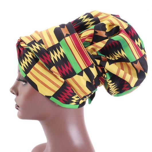 African Print Satin  Headwrap 6