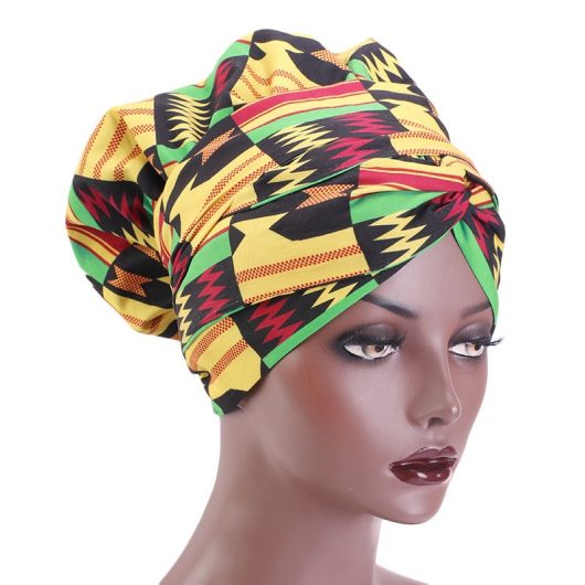 African Print Satin  Headwrap 3