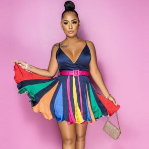 Colourful Party Dress 1