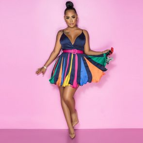 Colourful Party Dress 4